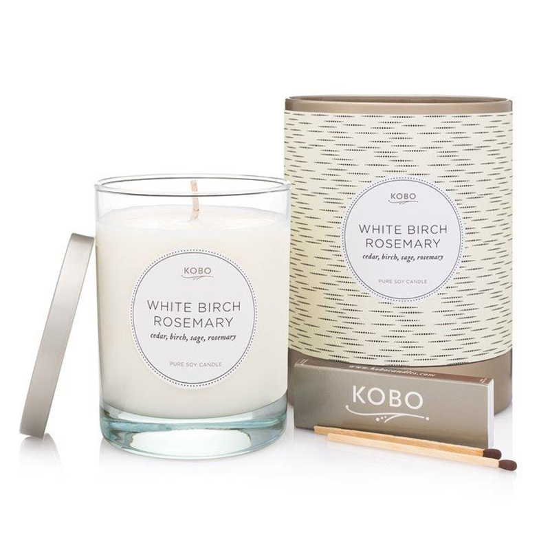 Coterie Collection White Birch Rosemary Candle