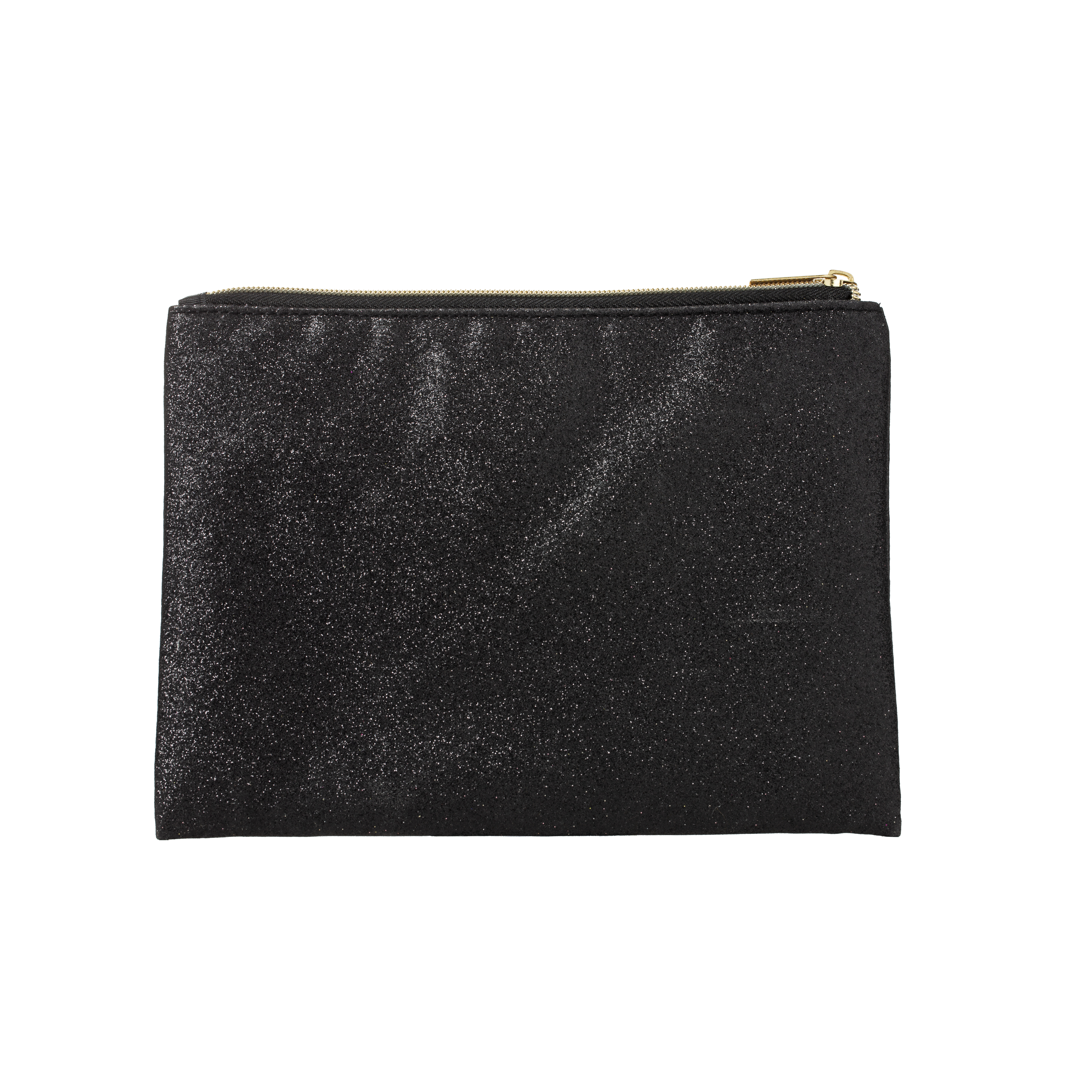 Makeup Bag Black Glitter